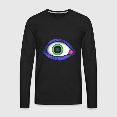 Monster Eye - Männer Premium Langarmshirt