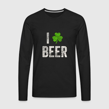 I Love Beer St. Patricks Day t-shirt gave - Herre premium T-shirt med lange ærmer