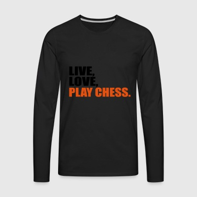 2541614 15412473 Chess - Men's Premium Longsleeve Shirt