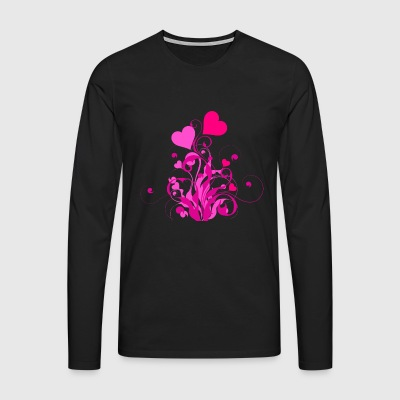 Blooming hearts - Men's Premium Longsleeve Shirt