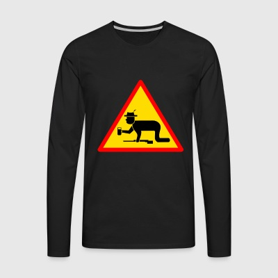Danger sign Hunter drunk - Men's Premium Longsleeve Shirt