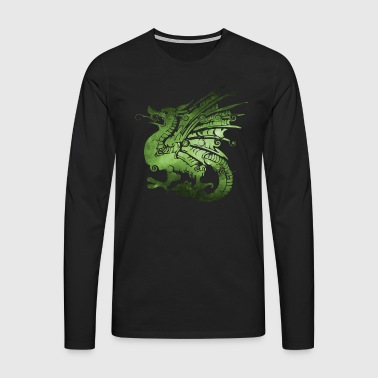 Dragon Dragon fairytale fantasy gift - Men's Premium Longsleeve Shirt