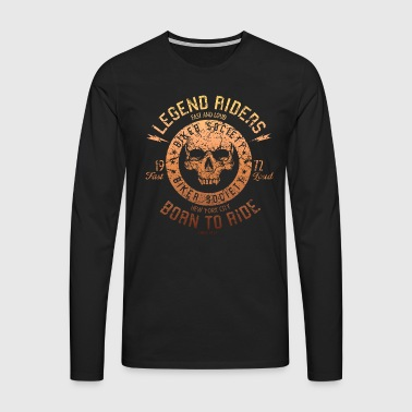 SSD Legend Riders fast and loud Biker RAHMENLOS Design orange - Männer Premium Langarmshirt