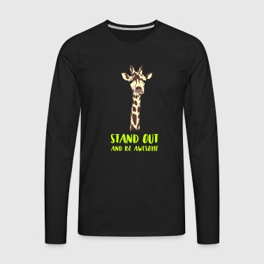 giraffe stand up tall prompt demanding hi - Men's Premium Longsleeve Shirt