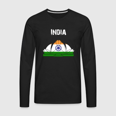 Nation-Design Inde Lotus Temple dn1P4 - T-shirt manches longues Premium Homme