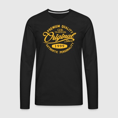 Original Since 1999 Handwriting Premium Quality - Men's Premium Longsleeve Shirt