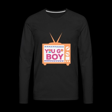 I love the 90s Disco Music R & B Hip Hop Gift - Men's Premium Longsleeve Shirt
