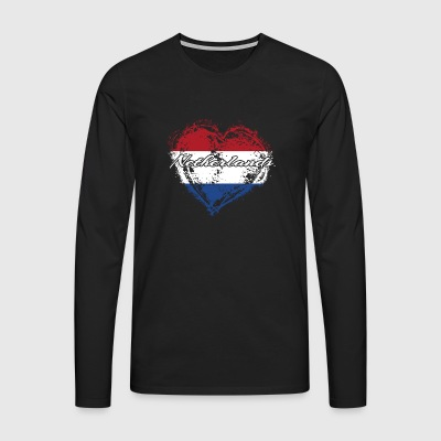 HOME ROOTS COUNTRY GIFT LOVE Netherlands - Männer Premium Langarmshirt