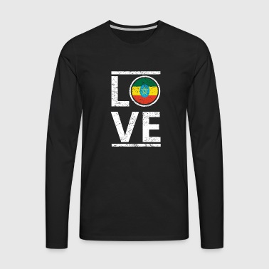 roots love home origin queen ethiopia - Men's Premium Longsleeve Shirt