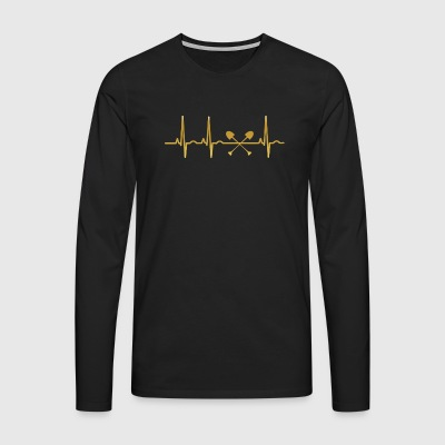 evolution ekg heartbeat construction worker - Men's Premium Longsleeve Shirt