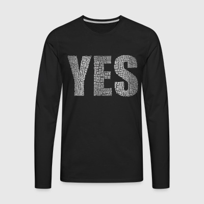 Yes Silver - Men's Premium Longsleeve Shirt