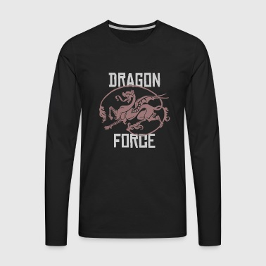 logotipo de idea del regalo del dragón tribal - Camiseta de manga larga premium hombre