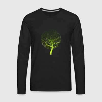 Music Tree - music tree nature sounds forest notes - Men's Premium Longsleeve Shirt