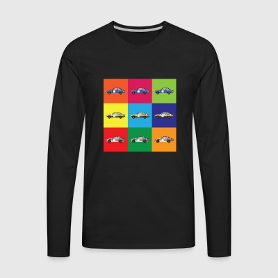 Muti Colour Rally Car - Men's Premium Longsleeve Shirt
