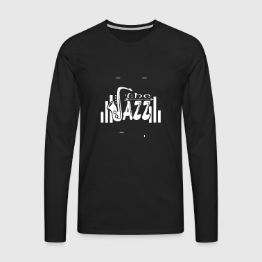 Escape the World Jazz Saxophone Music Gift - Men's Premium Longsleeve Shirt