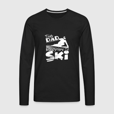 Skiing - skier - dad - snow - gift - Men's Premium Longsleeve Shirt