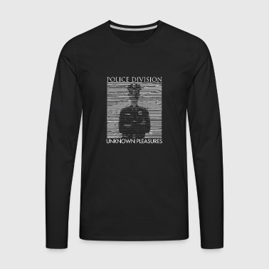 Police Division and Unknown Pleasures T-shirt - Men's Premium Longsleeve Shirt