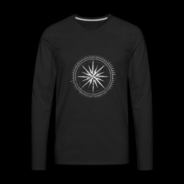 Compass compass direction map gift traveling - Men's Premium Longsleeve Shirt