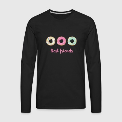donate Homer sweet snack love enjoy pink love - Men's Premium Longsleeve Shirt