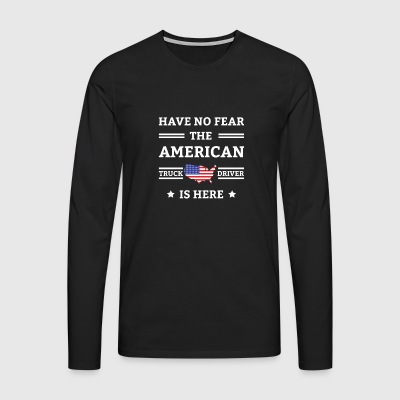 Have No Fear The American Is Here Tee Shirt Gift - Men's Premium Longsleeve Shirt