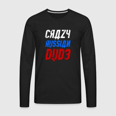 Crazy Russian dude - Men's Premium Longsleeve Shirt