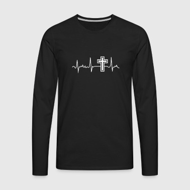 Jesus Is My Pulse Design - Men's Premium Longsleeve Shirt