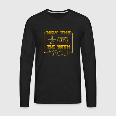 May the power be with you - gift - Men's Premium Longsleeve Shirt