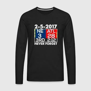NE 3 ATL 28 Never Forget - T-shirt manches longues Premium Homme
