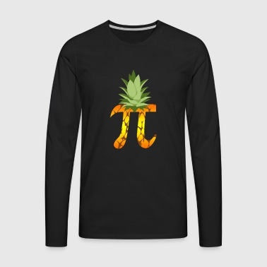 Pineapple Pi Science Geek Mathematics Symbol Humor - Men's Premium Longsleeve Shirt