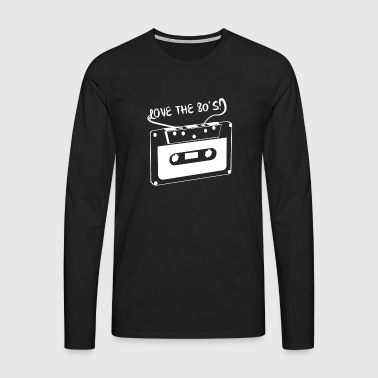 Love the 80´s - Männer Premium Langarmshirt