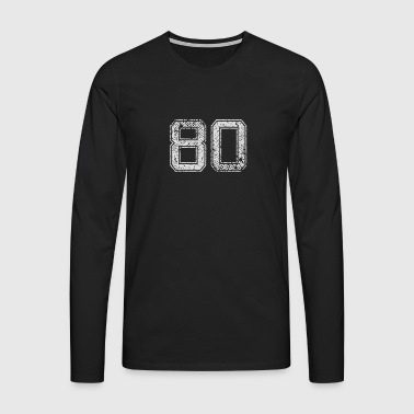 Number 80 Number Eighty Eight Zero gave - Premium langermet T-skjorte for menn