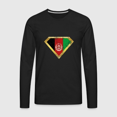 Super Hero helten opprinnelse flagg Afghanistan png - Premium langermet T-skjorte for menn