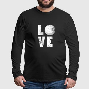 Funny Love Volleyball T-skjorte for Sport Lovers - Premium langermet T-skjorte for menn