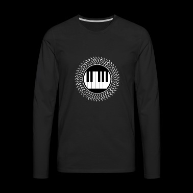 I love my keyboard piano piano keys - Men's Premium Longsleeve Shirt