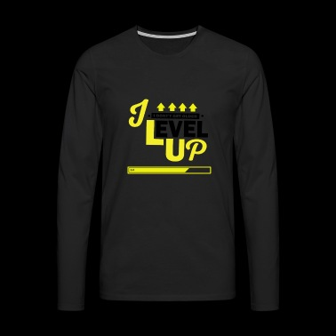 I Level Up Consoles and PC Gamer Birthday Shirt - Men's Premium Longsleeve Shirt