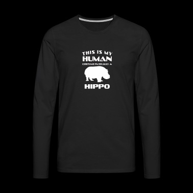 Funny cute hippopotamus costume gift surprise - Men's Premium Longsleeve Shirt
