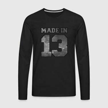 Made in 2013 College Textur - Männer Premium Langarmshirt