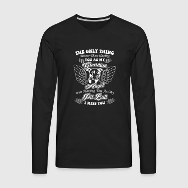 Dog Guardian Angel Shirt - Premium langermet T-skjorte for menn