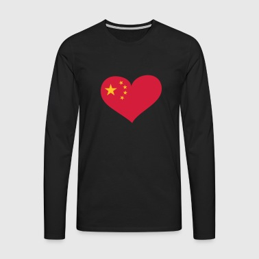 China Herz; Heart China - T-shirt manches longues Premium Homme