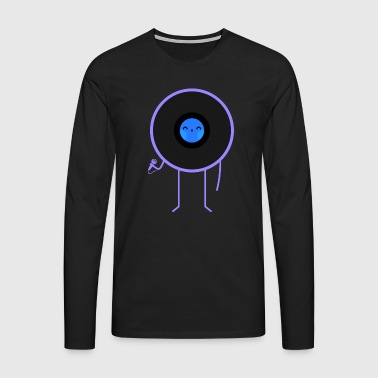 Pop vinyl disc music - Men's Premium Longsleeve Shirt