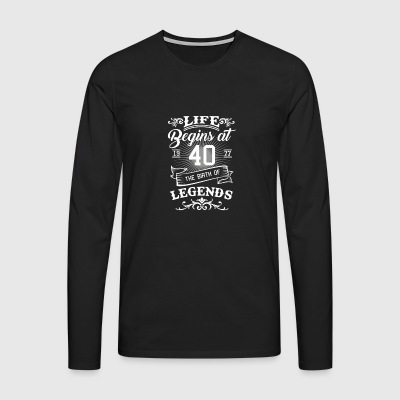 40th birthday gift - born in 1977 - Men's Premium Longsleeve Shirt