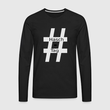 # # Haschtag - T-shirt manches longues Premium Homme
