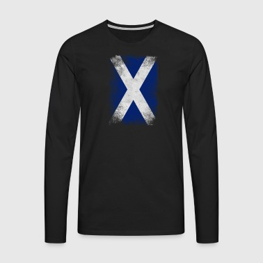 Scotland flag Proud Scottish Vintage Distressed - Men's Premium Longsleeve Shirt