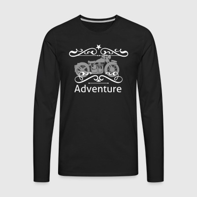 Adventure - Premium langermet T-skjorte for menn