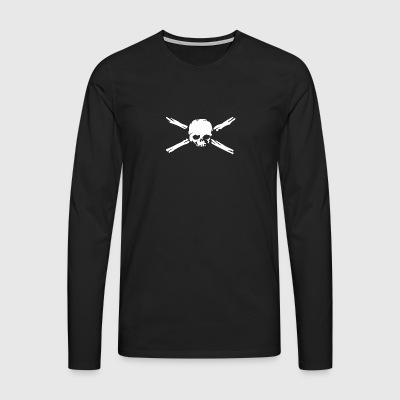 Skull with bones. - Men's Premium Longsleeve Shirt
