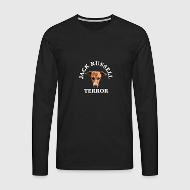 blanc terreur Jack Russell - T-shirt manches longues Premium Homme
