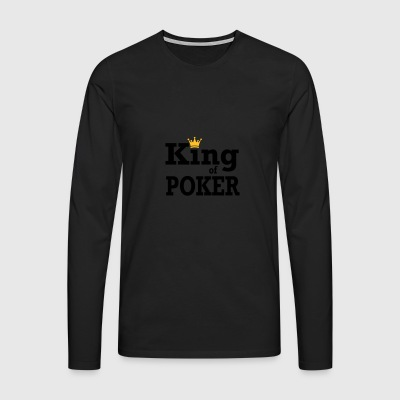 King of Poker - Mannen Premium shirt met lange mouwen