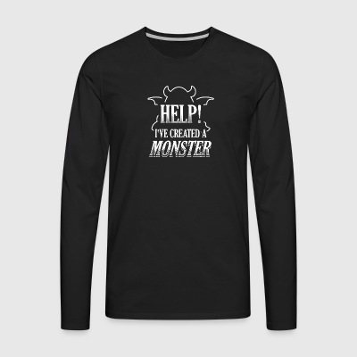 Funny Partner Partnerlook Shirt Help Monster - Men's Premium Longsleeve Shirt