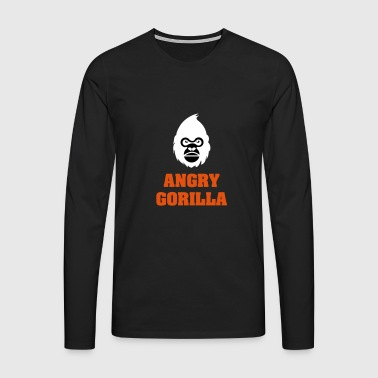 angry_gorilla_white - T-shirt manches longues Premium Homme