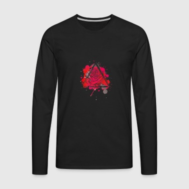 Red Rose Triangle - Premium langermet T-skjorte for menn